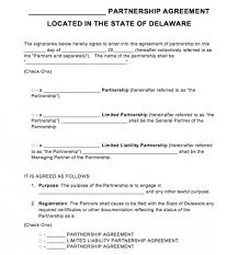 Free Delaware Partnership Agreement Template | Pdf | Word |