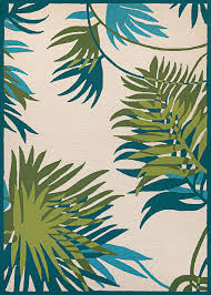 couristan covington 2992 0505 jungle leaves ivory forest green indoor outdoor area