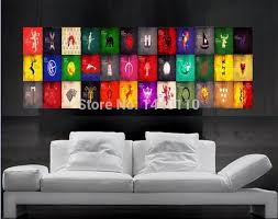 game of thrones symbols of houses flags poster print wall art 16 parts giant huge free shipping no30 in wall stickers from home garden on aliexpress  on giant wall poster art print with game of thrones symbols of houses flags poster print wall art 16