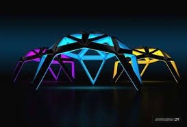 futuristic lighting. Glowing Geodesic Lights Futuristic Lighting