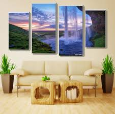 aliexpresscom  buy  pieces set unframed modular waterfall wall