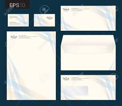 Letterhead Stationary Modern Stationery Set In Vector Format Letterhead Business