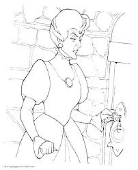 Stepmother To Cinderella Coloring Pages Disney