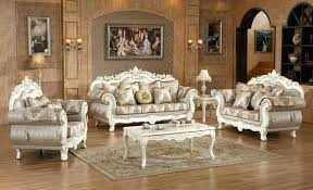 antique victorian living room furniture sets opulent traditional upholstered sofa in pearl white gold u93 furniture