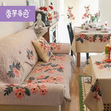 get ations color taro valley american country style fabric sofa cushion embroidery lu embroidered quilted sofa cushion sofa