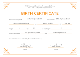 Certificate Of Birth Template Free Official Birth Certificate Template In PSD MS Word Publisher 6