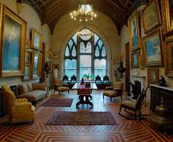 Interior gothic revival Library, Lyndhurst,Gilded Age Mansion. Home to Jay  Gould.