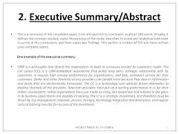 Sample Executive Summary Template Report Example Format Doc ...
