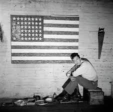 jasper johns at pearl street studio in 1955 photograph by robert rauschenberg