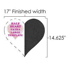 Half Heart Template Half Heart Xl Template