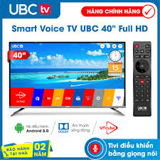Smart tivi UBC FULL HD 40 inch Android 8.0, Điều khiển bằng giọng nói  (Voice Search)