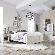 white coastal bedroom furniture. Seaside Lodge Hand Rubbed White King Panel Bed Coastal Bedroom Furniture O