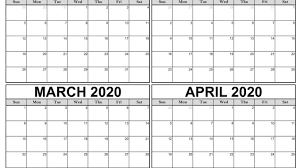 Blank January To April 2020 Calendar Excel Net Market