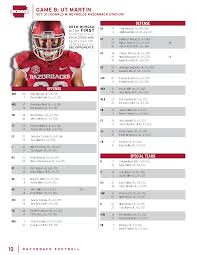 Ut Football Depth Chart Ut Martin Game Depth Chart Arkansas Razorbacks