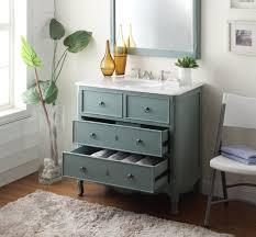 Adelina 34 inch Vintage Bathroom Vanity, Vintage Mint Blue Finish