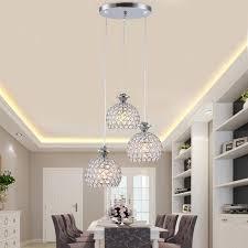 kitchen dining lighting fixtures. modern crystal pendant light fixtures restaurant kitchen dining room hanging lamp chrome iron e27 220v for lighting r