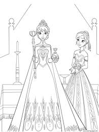Coloring Page Free Frozen Coloring Pages