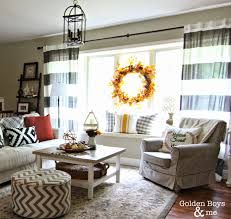 Striped Living Room Curtains Golden Boys And Me Striped Drapes And Lantern Light Fixture