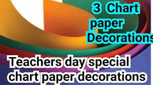 Chart Paper For Teachers 3 Chart Paper Decoration Idea For Teachers Day How To Decorate Chart Paper Chart Paper Decoration