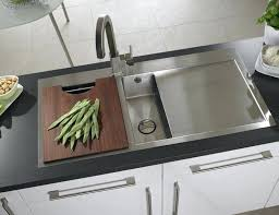 kitchen sink with drainer board stainless steel kitchen sink with drainboard