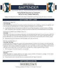 bartender objective bartender objectives resume resume cover letters pinterest