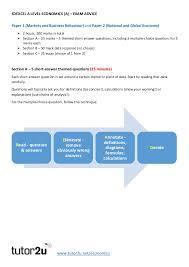 edexcel a level economics advice edexcel a level economics a exam advice tutor2u net