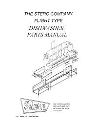 dishwasher parts manual the stero company flight type manualzz com stero dishwasher wiring diagrams at Stero Dishwasher Wiring Diagram