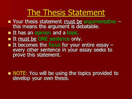 the literary essay pay attention well for this is the format 6 the thesis statement