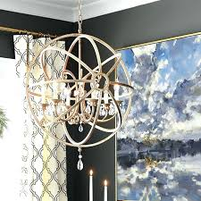 crystal orb chandelier and s restoration hardware smoke