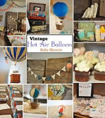 Chair Covers From A Rustic Hot Air Balloon Birthday Party Via Vintage Hot Air Balloon Baby Shower