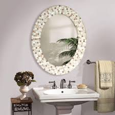 que Mosaic Bathroom Decorative Wall Mirrors Mirror Ideas