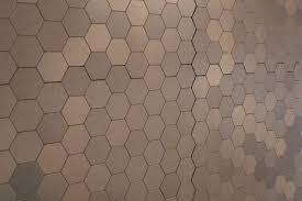 Metal floor tiles Garage 10104365bronzehexagonnewsupangle Builddirect Gl Stone Tile Mosaic Tile Peel Stick Metal Series Bronze