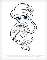 Mermaid Cartoon Drawing At Getdrawingscom Free For Personal Use