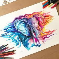 colorful elephant drawings. Wonderful Colorful Watercolor Elephant More Inside Colorful Elephant Drawings P