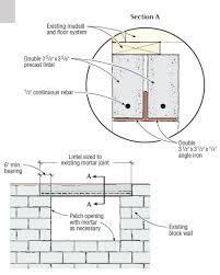 a window into a block foundation