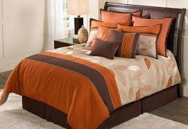 beauteous orange brown comforter set with 8 piece bedding set with dark orange comforter
