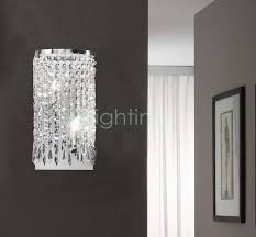 bathroom sconce lighting modern. Brilliant Glamorous Crystal Sconce 2017 Design Wall Modern Lights Bathroom Lighting E