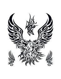 Orel Tribal Velké Nalepovací Tetování