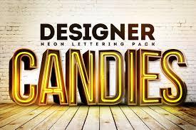 3d neon lettering pack