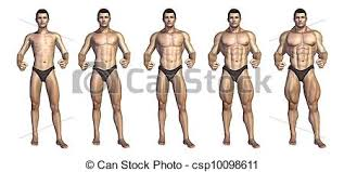 Bodybuilders Step By Step Transformation