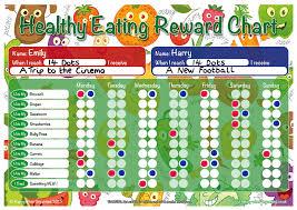 A3 Healthy Eating Childrens Reward Chart