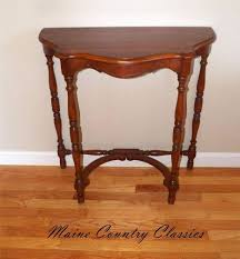 half round console table lovely vintage solid cherry half round wall console table occasional entry