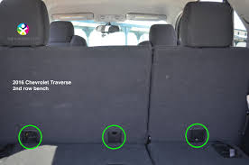 2016 gmc acadia 2nd row bench tethers