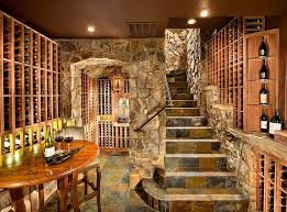 wine room ideas. Use Of Stone Gives The Wine Cellar A More Classic Appeal [Design: KGA Studio Room Ideas