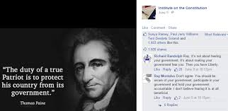 Constitution Quotes Stunning The Institute On The Constitution Posts Another Incorrect Quote