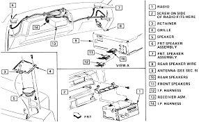 solved how to remove radio in 1988 chevrolet cavalier z24 fixya fig fig 1 exploded view of the radio mounting 1987 vehicle shown