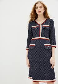 Платье Vera Lapina синий 54 размер