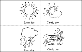 Small Picture Free Printable Weather Coloring Pictures For Preschool Color Zini