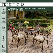 metal garden table patio dining set