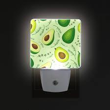 Avocado Light Brighter Fruit Avocado Pattern Led Sensor Night Light For